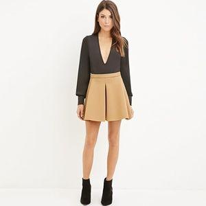 6c3e3b5acb Forever 21 Pleated Scuba Knit Skirt